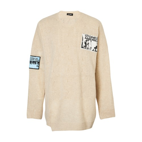Pull oversize à patches