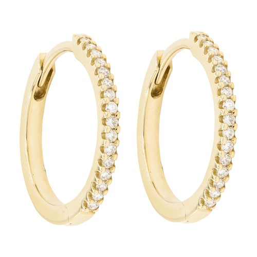 Iris white diamonds loops