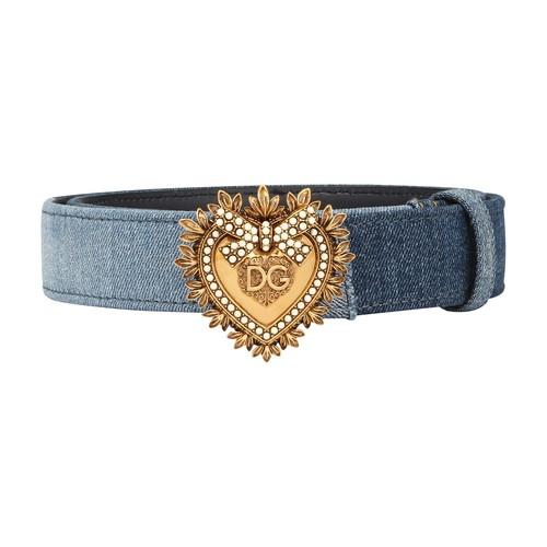 Dolce & Gabbana Belts PATCHWORK DENIM DEVOTION BELT
