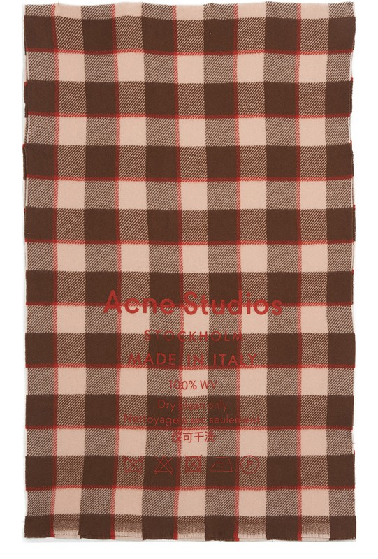 아크네 스튜디오 Acne Studios Scarf,brown / pink