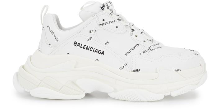 발렌시아가 트리플S 스니커즈 - 화이트 블랙 Balenciaga Triple S sneaker