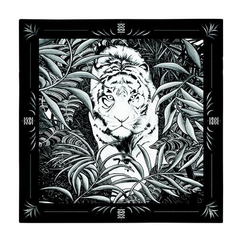 Pocket Square Legend Black & White 30