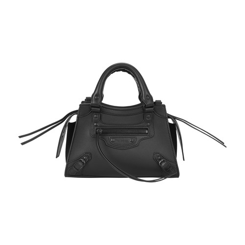 Balenciaga Neo Class City Leather Mini Handbag In Black