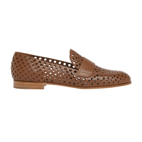 Gianvito Rossi Thierry Loafers In Cuoio