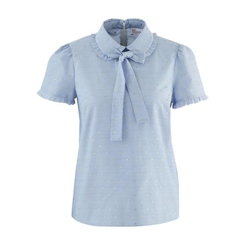 Chemise à manches courtes avec ruban