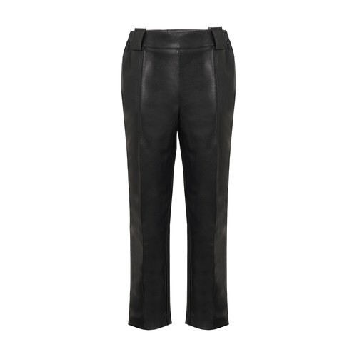 Army vegan leather pants