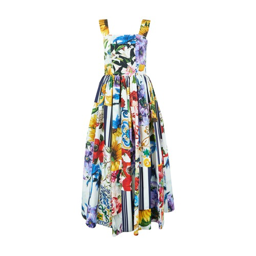 Dolce & Gabbana Cottons MIDI PATCHWORK DRESS