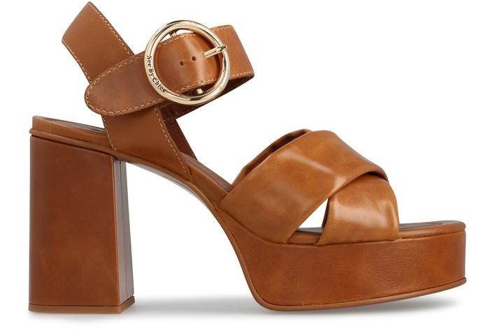 씨 바이 끌로에 See by Chloe Lyna platform sandals,light/pastel brown