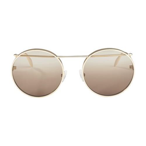 Alexander Mcqueen Sunglasses In Neutrals