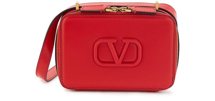 발렌티노 브이슬링백 스몰 Valentino Garavani - small V Sling bag,rouge pur