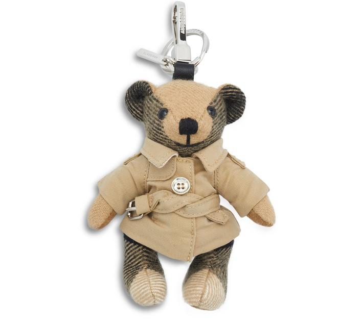 버버리 토마스 베어 트렌치 키체인 Burberry Thomas Bear Trench key chain,archive beige