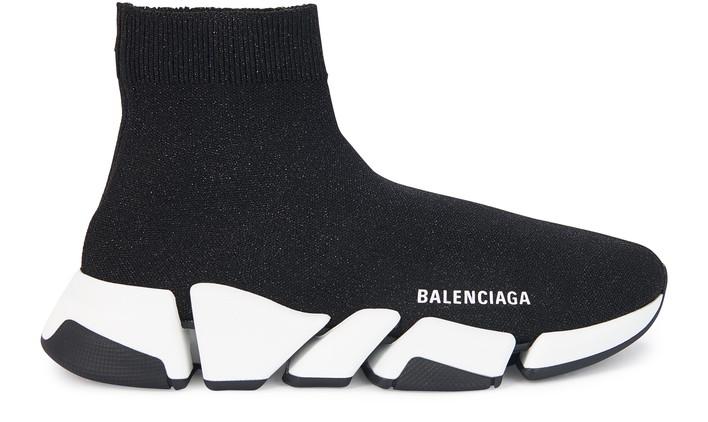 발렌시아가 스피드러너2 여성용 - 블랙/그레이 Balenciaga Speed 2.0 Sneaker,black/white/black
