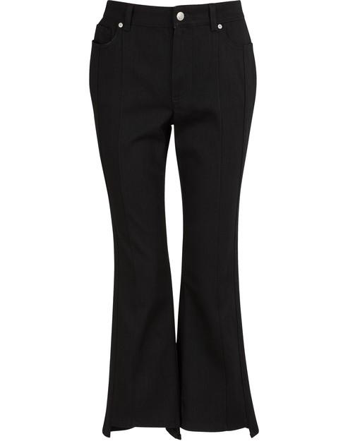 Alexander Mcqueen Cropped Jeans In 1000 Black