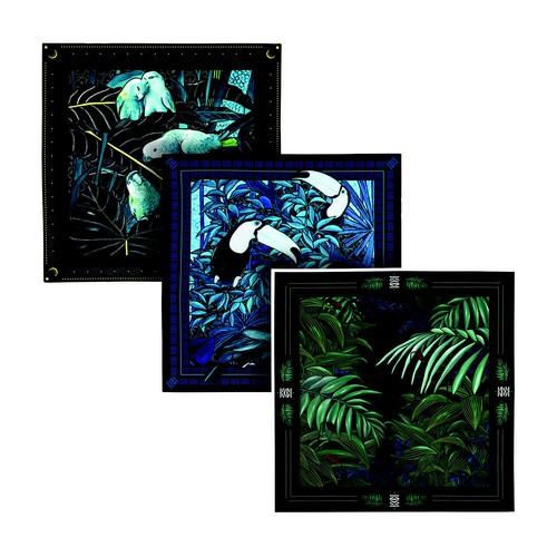 Gift Box 3 Pocket Squares Tropical