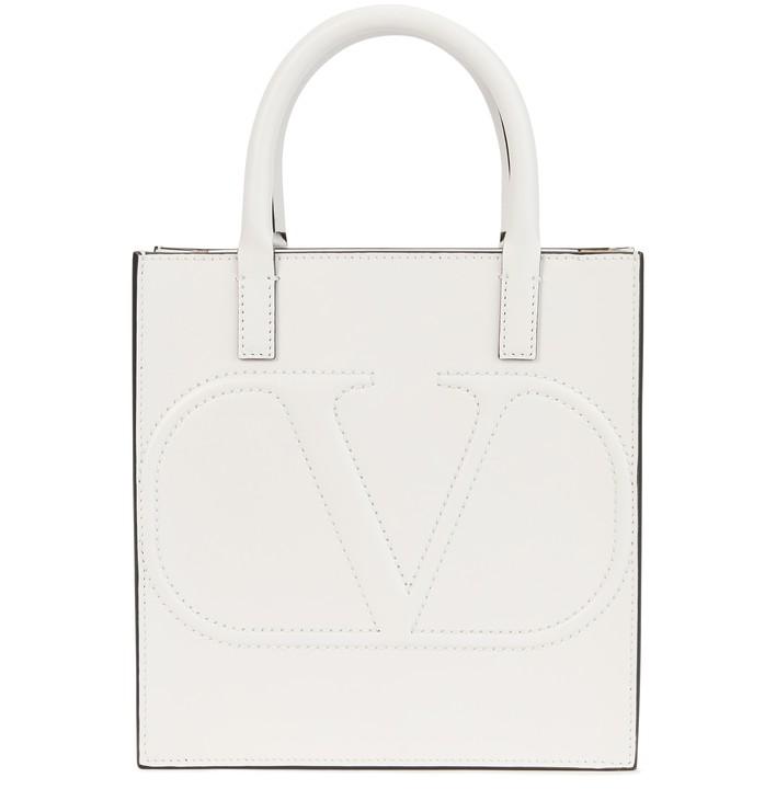 발렌티노 로고 더블 핸들백 스몰 Valentino Garavani - Logo Small Double Handle Bag,bianco ottico