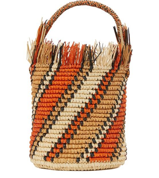 Sensi Studio Striped bucket basket