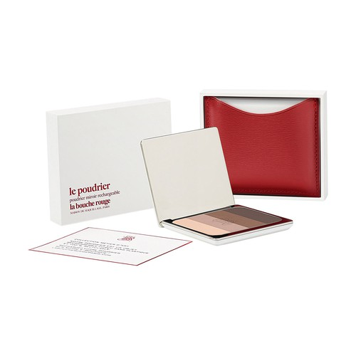 Red fine leather Tage eyeshadow set