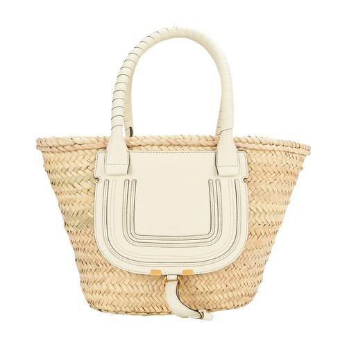Chloé Marcie Basket Bag In Neutrals