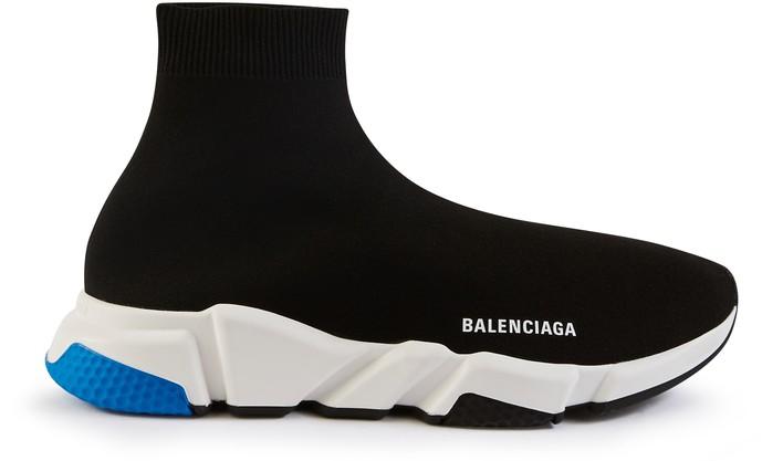 발렌시아가 스피드러너 - 블랙/화이트/블루 Balenciaga Speed trainers
