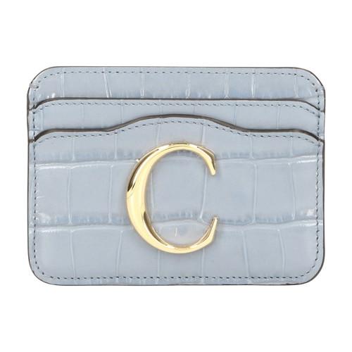 Chloé C Card Holder In Ash Blue