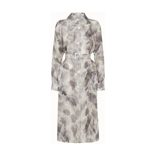 Fendi GREY ORGANZA TRENCH COAT