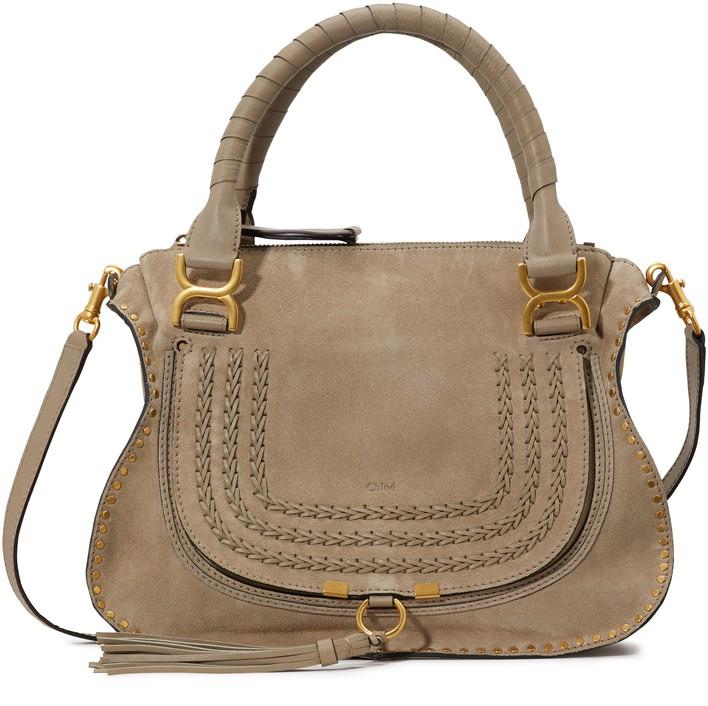 끌로에 마르씨 핸드백 라지 - 모티 그레이 Chloe Large Marcie handbag,motty grey