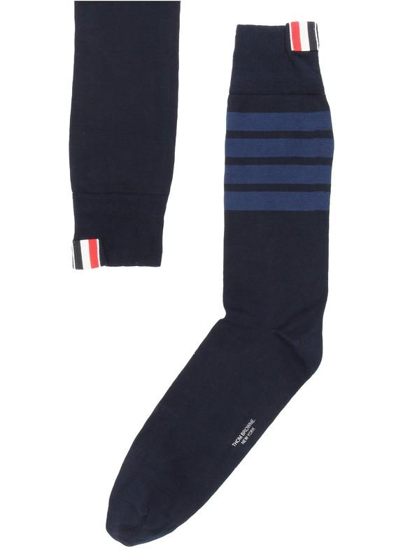 톰 브라운 4바 양말 - 네이비 Thom Browne 4 socks