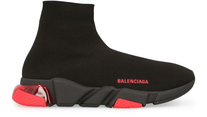 발렌시아가 스피드러너 LT - 블랙/레드 Balenciaga Speed lt sneaker