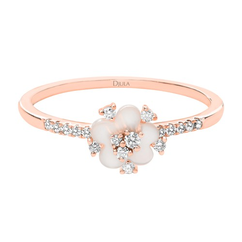 Djula Cherry Blossom Ring In Gold