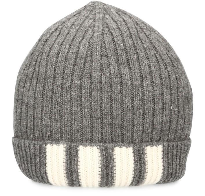 탐 브라운 캐시미어 비니 Thom Browne Rib hat in cashmere,med grey