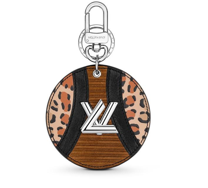 루이 비통 LOUIS VUITTON Corduroy Leather Patchwork Bag Charm and Key Holder,leo.