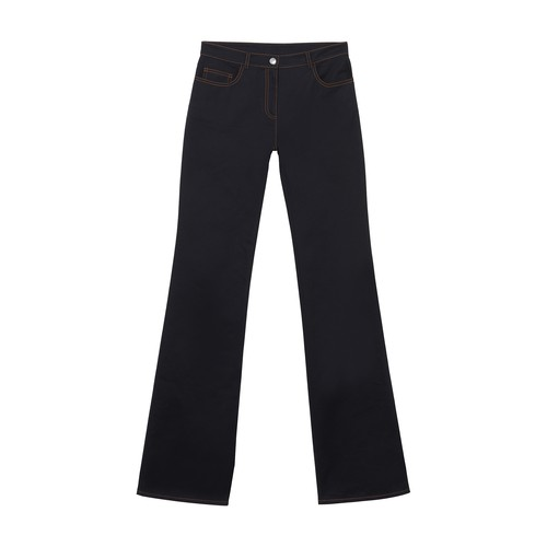 Pants with stitched pocket
