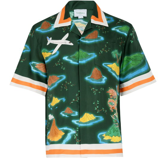 CASABLANCA Casa Airways silk shirt