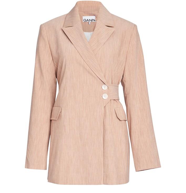 21SS 가니 수트 자켓 Ganni Suiting jacket,tannin