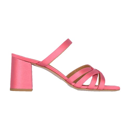 Momoní Sorrento Shoes In Textured Satin In Fuchsia