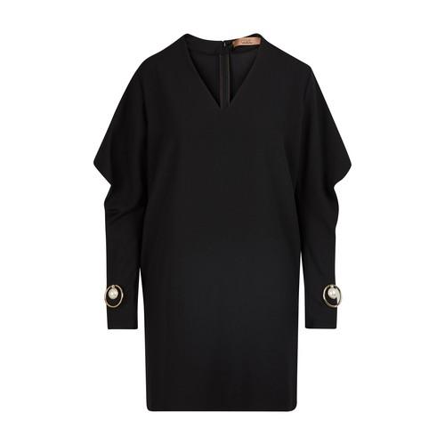 Robe courte à détails bijoux