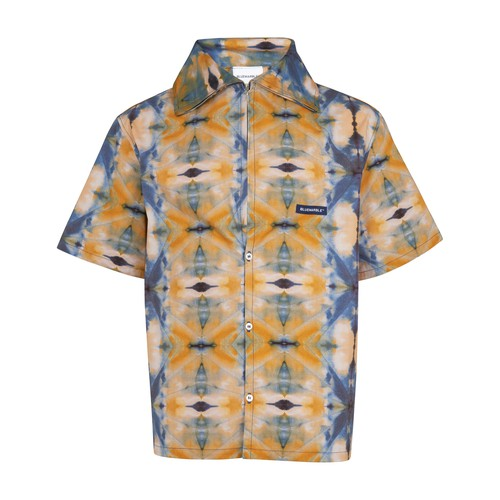 Tie and dye short sleeve shirt
