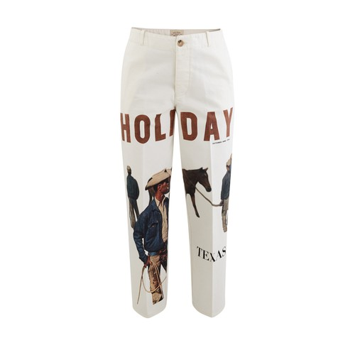 Holiday Boileau Cover Trousers In Off-white Print