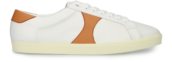 Celine Mesh and calfskin low lace up triomphe sneakers