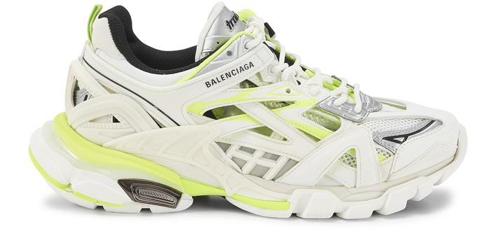 발렌시아가 트랙2 오픈 스니커즈 - 화이트/네온 옐로우 Balenciaga Track 2 open sneaker