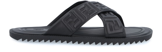 Fendi Slides FF Nappa sandals