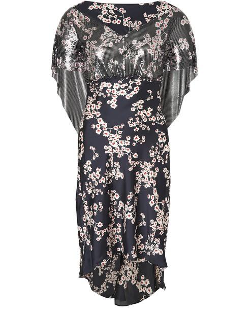 Paco Rabanne Dresses Black Sakura long dress