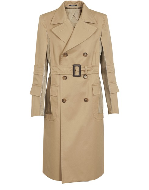 Maison Margiela Double-breasted Cotton-gabardine Trench Coat In Camel