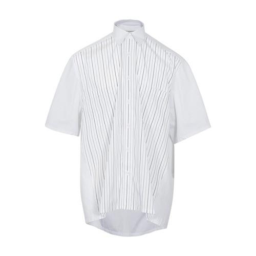 Stripe pocket short sleeve shirt