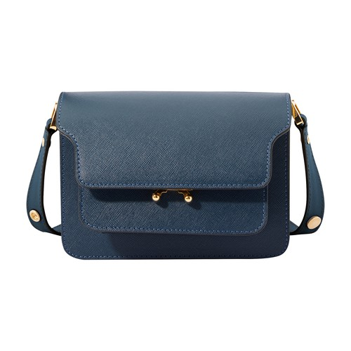 Trunk mini leather bag