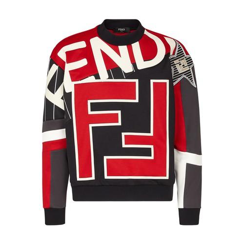 Fendi Sweatshirts MULTICOLOUR COTTON SWEATSHIRT