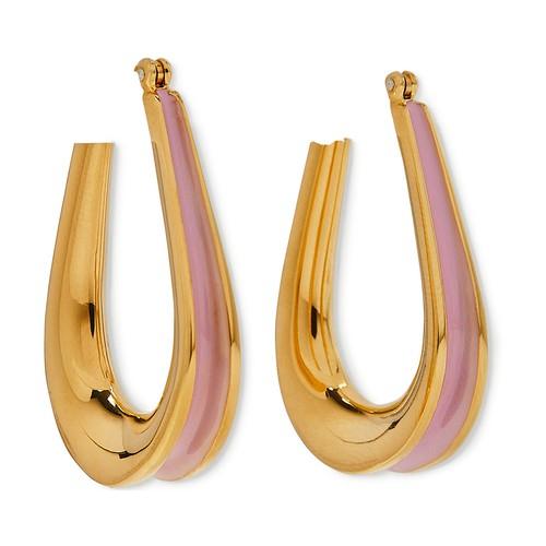 Ellipse enamel-detail earrings