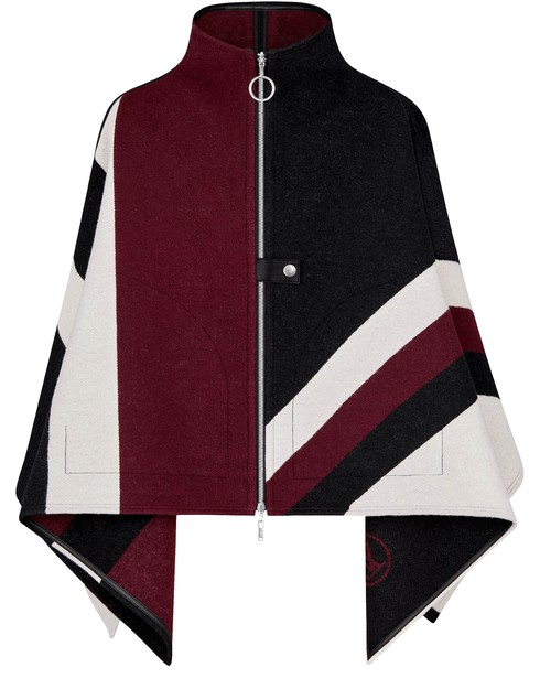 Louis Vuitton Graphic Lv Jacquard Zipped Cape In Multi