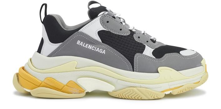 발렌시아가 트리플S 스니커즈 - 그레이/옐로우 Balenciaga Triple S sneakers