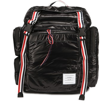 Men's Backpack with three-color bands | THOM BROWNE | 24S